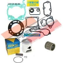 Honda CR125 1988 1989 54mm Bore Mitaka Top End Rebuild Kit Inc Piston & Gasket